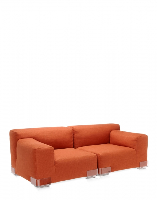 Plastics Duo Sofa 88 CM - Armlehne links - Orange