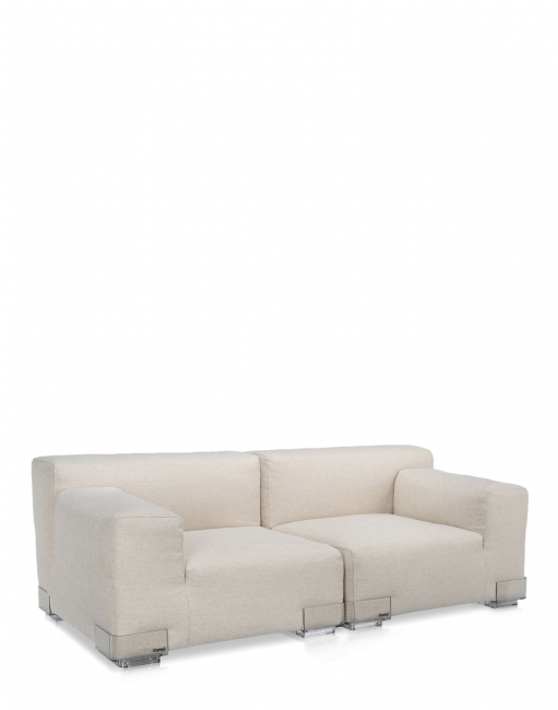 Plastics Duo Sofa 88 CM - Armlehne links - Ecru