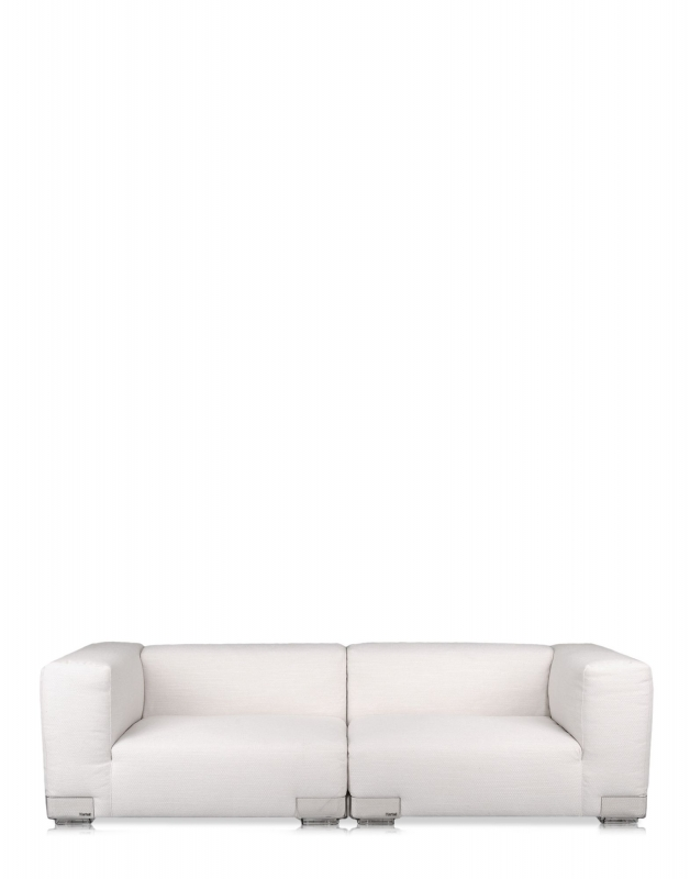 Plastics Duo Sofa 114 CM - Armlehne links - Weiss