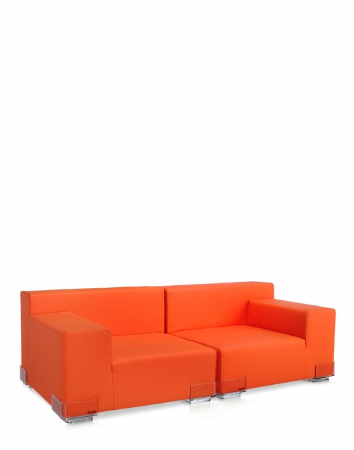 Plastics Sofa - Armlehne rechts - Orange