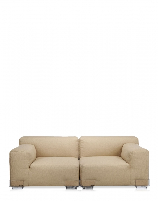 Plastics Duo Sofa 88 CM - Armlehne links - Taubengrau